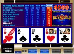 jeu video poker deuces wild
